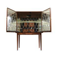 Vintage Rosewood Bar Cabinet | dotandbo.com