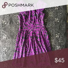 Purple and black dress. Purple and black dress, can be worn to work or a profesional event. Never worn. Dresses Midi