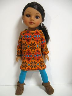 Hearts 4 Hearts Doll Clothes Nordic Shift by 123MULBERRYSTREET, $19.00