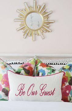 Guest Bedroom Bedding www.charmingincharlotte.com