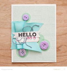 Hello card by maggie holmes at @Studio_Calico