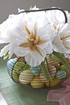 Karin Lidbeck: coffee filter flowers , Created for Easter Good Housekeeping mag. feature