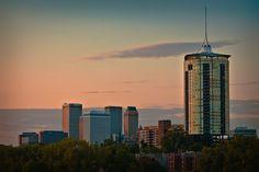 Tulsa Skyline After the Sunset