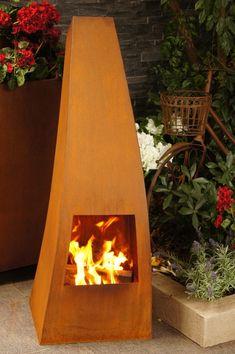 Onasis Fireplace Made Form Corten Steel