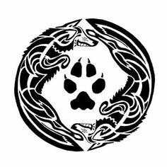 Dragon Wolf, Wolf Silhouette, Tribal Patterns, Tribal Art, Wolves, Tatting, Bangle, Piercing, Naruto