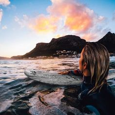 Photo of the Day: Looking back on the weekend like. @scrattykay takes a break from the South African surf to enjoy a glowing sunset with her #GoProHERO6.