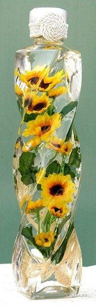 цветы в бутылке. позитив!!