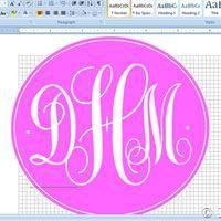 How to make a monogram using Microsoft Word