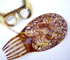 Art Deco hair comb Spanish mantilla faux tortoiseshell hair comb hair accessory hair pin hair slide headdress hair jewelry hair ornament
