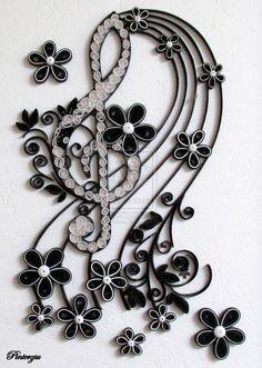 Quilled treble clef by pinterzsu on deviantART: