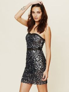 ShopStyle: Free PeopleBeads and Leather Bodycon