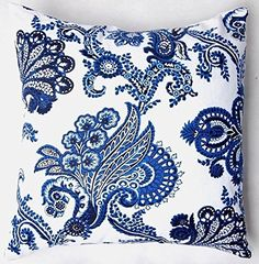 Chinese Old Blue Print Cotton Blend Linen Pillow Sofa Throw Pillow Case Decor Cushion Cover 18x1845x45cm flowers *** This is an Amazon Affiliate link. Check out the image by visiting the link.