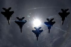 F-15C Fighter Jets Squadron in Formation