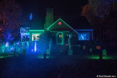 Halloween house side entrance. Still not feeling welcome. Something wicKED this way comes....: Wicked Woods Cemetery Halloween 2015