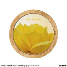 Yellow Rose Cheese Board