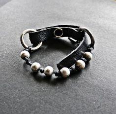 KSZU- Silver Beads & Leather Silver Beads, Bracelets, Leather, Jewelry, Fashion, Moda, Jewlery, Jewerly, Fashion Styles