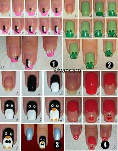 Nail Art Designs In Every Color And Style – Your Beautiful Nails Cute Nail Art, Nail Art Diy, Easy Nail Art, Diy Nails, How To Nail Art, Manicure Ideas, Diy Manicure, Nail Nail, Creative Nail Designs