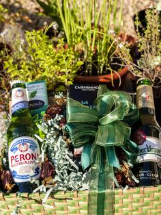 Competition winner Hazel Y's shot of the Hampergifts Continental Beer Hamper in her garden.
