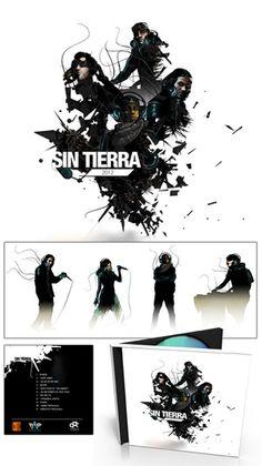 """""""Sin tierra""""  CD cover"""