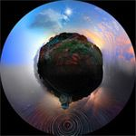 24 Hours of Photographs Merged into a Single Panoramic Image