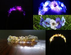 Make your own Light Up LED flower crown