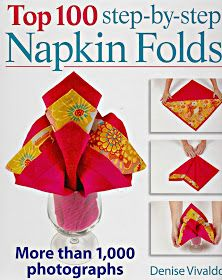 Here's a pretty way to fold your napkins for your holiday table or other special occasion! This Bow Fold idea is from a book called Top 100 Step-by-Step Napkin Folds by Denise Vivaldo, a seas… Fancy Napkin Folding, Christmas Napkin Folding, Folding Napkins, Christmas Napkins, Napkin Origami, Origami Top, Oragami, How To Make Origami, Deco Table