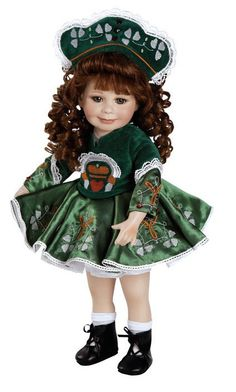 Marie Osmond WHEN IRISH EYES ARE SMILING Porcelain Doll   beautiful