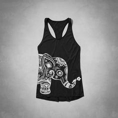 Elephants women Racerback tee T-Shirt tank Quality American apparel