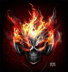 View top-quality illustrations of Man In Flames. Find premium, high-resolution illustrative art at Getty Images. Skull Tattoo Design, Skull Tattoos, Face Tattoos, Dark Fantasy Art, Dark Art, Grim Reaper Art, Ghost Rider Marvel, Reaper Tattoo, Sugar Skull Art