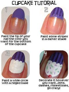 Cupcake nail tutorial