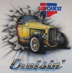 Custom painted T-shirt for raffle at rod run