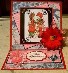 """hobby e passioni racchiusi nel mio cassetto: Biglietto di Buon Compleanno """"Sarah Kay Stamp"""" - """"Sarah Kay Stamp"""" happy birthday card"""