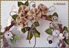 Le Ghirlande: Ghirlanda portaovetti con fiori di juta