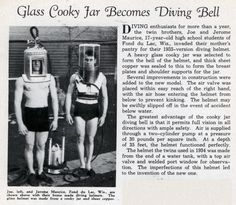 Glass Cooky Jar Becomes Diving Bell (Sep, 1935)