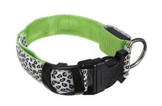 Dog Collar GREEN LED light via Paracord survivalist armband shop. Click on the image to see more!