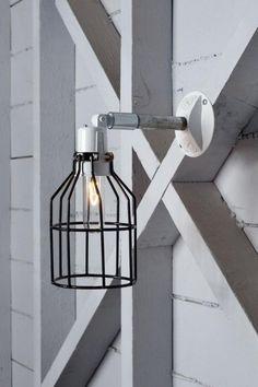 наружное освещение, применяется металлический каркас, промышленный дизайн