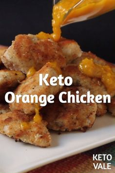 Keto Orange Chicken Low Carb Recipe for Ketogenic and Sugar Free Diet A delicious popular chicken dish served in many popular restaurants, this keto-friendly orange chicken will be your perfect low-carb meal. Ketogenic Recipes, Low Carb Recipes, Diet Recipes, Healthy Recipes, Atkins Recipes, Steak Recipes, Soup Recipes, Cookie Recipes, Chicken Recipes