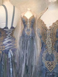 Boho dress aqua colors bohemian dress for mermaids velvet Fairy Wedding Dress, Blue Wedding Dresses, Fairy Dress, Bridal Dresses, Blue Dresses, Vintage Dresses, Wedding Blue, Blue Bridal, Pretty Outfits
