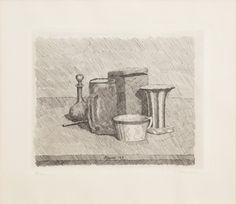 Giorgio Morandi, Natura morta con tazzina e caraffa @artsy
