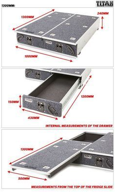 Titan Drawer System - - Ute Drawer , & Outdoor Products put this in The GX Motorcycle Camping, Truck Camping, Camping Gear, Truck Bed Drawers, Truck Bed Storage, Jeep Jk, Accessoires Camping Car, Navara D40, Jimny Suzuki