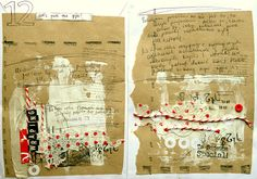 Altered journal pages