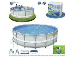 ¡Buenos días! Esperamos estéis disfrutando del verano. Si aún no tienes tu piscina, corre y consíguela antes de que se agoten. ¡Promociones limitadas! Te recomendamos la serie ultraframe de Intex. Lona y componentes de alta calidad, totalmente equipada. Instalación muy rápida. http://www.top-piscinas.com/piscinas-de-pvc-piscinas-intex-ultra-frame