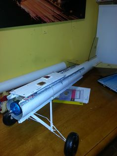 The newly modified fuselage and tail.