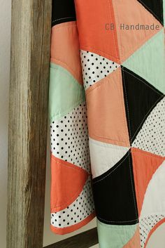a coral and mint isosceles quilt. | Flickr - Photo Sharing!