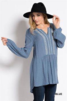 Tunic Top with lace detail