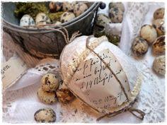 ♥shabby  - Osterei aus vintage Schätzen♥