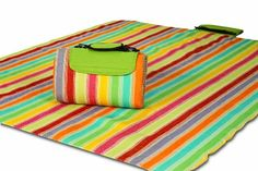 Picnic Plus 60x48-in. Mega Mat Picnic Blanket, Salsa Stripe. *** Continue to the product at the image link.