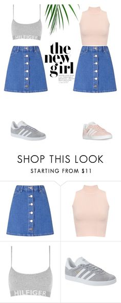 """""""looks"""" by alinalina151515 ❤ liked on Polyvore featuring Miss Selfridge, WearAll, Tommy Hilfiger, adidas Originals and adidas"""