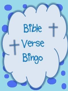 this is a make your own bible verse bingo game for students sunday school vacation bible school children at home and more