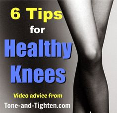 Anyone out there suffer from knee pain? Get tips and advice from a doctor of physical therapy at Tone-and-Tighten.com